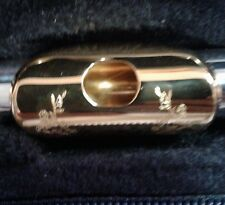 Armstrong Flute Head Joint Silver Engraved Gold Lip Thin Wall Pro-Cut (B) L@@K