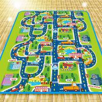 Floor Area Rug Baby Child Play Mat City Road Shape Living Room Bedroom  Carpet ^