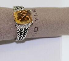DAVID YURMAN 10 x 8 citrine AND DIAMOND PETITE WHEATON RING SIZE 5.5