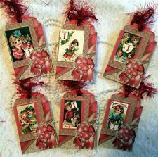 New Year~Vintage~6 Large Hang Tags~Scrapbooking~Cards~#139~judysjemscrafts