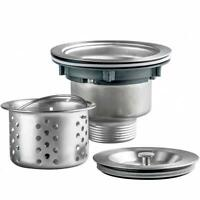 3-1/2 inch Stainless Steel Kitchen Sink Strainer Basket Drain Assembly