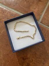 Damen Kordelarmband 585 Gold Gelbgold 19 cm Armband, Karabinerverschluss, Jobo