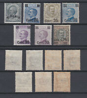 ITALY 1924 Surcharged King Values Mint *  Sc.150..158 (Sa.175/182)