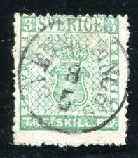 SCHWEDEN 1855 1 gestempelt sehr schöne MARKE ideal gestempelt 3500€(S5001