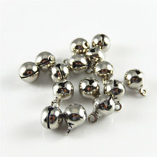 99x Silver Tone Brass Jingle Bell Ball Bell Pendants Charms Jewelry Crafts 52450
