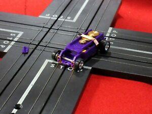 Dark Purple T-Dash Tjet Chassis Killer Bee magnets Chrome 5 spoke wheels