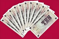 LOT of 10 UNC BRITISH ARMED FORCES (BAF) Notes: 10 Pence 1972 6th Series P-M48