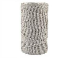 ELECTRIC FENCE POLY WIRE - White Fencing 200m Twine 2.5mm Twisted Sheep Cattle