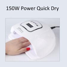 150W Nail Dryer UV Light 45LED Lamp Professional Gel Curing Nail Polish Timer UK