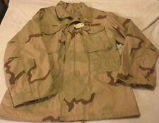 Mens M Medium US Army Issue Desert Camouflage Field Coat Jacket DLA100-89-C-0436