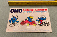 Aufkleber Die Schlümpfe / OMO Schlumpf Aufkleber Serie A