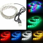 30 LED 3528 SMD Strip Light Lamp TV Background Lighting Kit USB Cable Waterproof