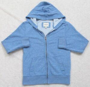 Cherokee Blue Hooded Sweatshirt Hoodie Medium 8/10 Cotton Polyester Rayon Zip Up