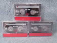New listing Lot 3 Sony 60 minute Hf Type 1 Normal Bias Cassette Tapes New