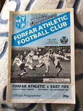 Home Teams F-K Forfar Football Scottish Fixture Programmes