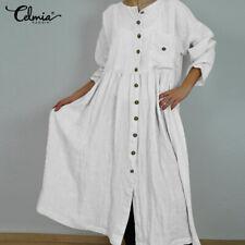 Abaya Muslim Women Long Maxi Kaftan Oversized Swing Beach Casual Shirt Dress Top