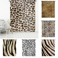 Blackout Curtains Eyelet Thermal Ready Made Ring Top Multi Size Leopard Print CN