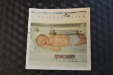 Vintage Photo Fresh Baby Boy Bobby in Incubator 870
