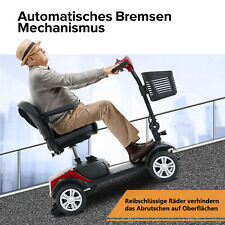 4-Rad-Elektroroller Elektrisch Seniorenmobil Scooter faltbar 360° drehbar 6Km/H