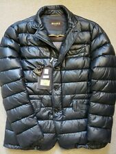 NWT Moorer Mens Leather Down-Filled Jacket Size 50