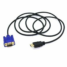 HDMI Male to VGA Male Video Converter Adapter Cable for DVD 1080P HDTV PC Pro