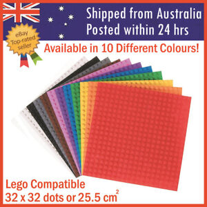 Building Blocks Base Plate Lego Compatible Baseplate 32x32 Studs 25.6 x 25.6 cm