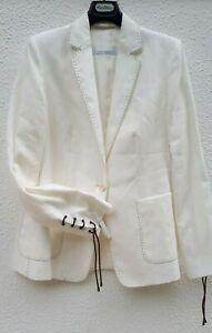🌟MARA MARA  White 100% FLAXLINEN Blazer    USA4 _ IT38_ D34_ GB6_ FR36