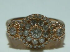 INCREDIBLE EFFY 14K ROSE GOLD AND DIAMOND COCKTAIL RING BAND 1+ CARATS