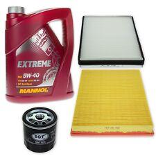 Filterset XL Opel Astra G/H Zafira A m. Delphi Klima/ 5W-40 Öl GM LL-A/B-025