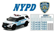 NYPD Ford Explorer POLICE 2016 + Decals /Aufkleber ***Greenlight 1:64 NEU+OVP