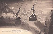 CHAMONIX MONT-BLANC croisement des voitures du téléphérique Chamonix Planpraz