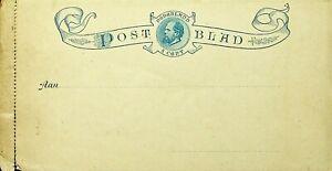 NETHERLANDS 5c UNUSED POSTAL STATIONERY LETTER CARD