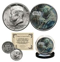 YODA - STAR WARS Genuine 1977 JFK Kennedy Half Dollar US Coin LICENSED