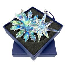 Christmas Crystal Glass Ornament Hanging Pendant 2020 Xmas SNOWFLAKE/STAR AURORA