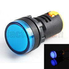 10PCS Pure Blue 22mm 12V Panel Mount LED Power Indicator Pilot Signal Light