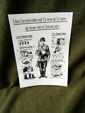 Gasschutzmittel gas defense leaflet Soldbuch WWII WK2 WW2 Wehrmacht
