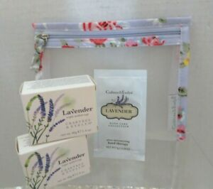 "CRABTREE & EVELYN 3- Piece Original ""LAVENDER"" Set  (Travel)"