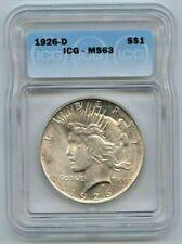 1926-D PEACE DOLLAR ICG MS63