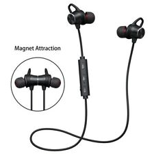 AURICOLARI CUFFIE BLUETOOTH V4.2 MAGNETICO WIRELESS STEREO SMARTPHONE mshop