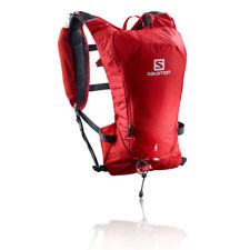 Salomon Mens Agile 6 Set Running Backpack Red Sports Breathable Reflective