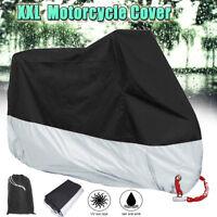 XXL WATERPROOF MOTORCYCLE COVER OUTDOOR PROTECT RAIN DUST UV MOTORBIKE PROTECTOR