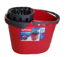 O-Cedar Quick-Wring 2.5 Gallon Bucket with lid for cleaning tools New