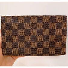 Authentic LOUIS VUITTON Damier Ebene Pochette Pouch Mini Bag Purse