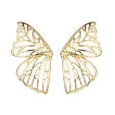 Hollow Butterfly Earrings Metal Large Wing Pendant Earrings Statement Jewelry