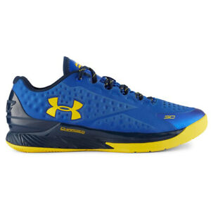 """Under Armour Men's Curry 1 Low """"Dub Nation"""" Blue/Yellow Sz 10 1269048-400"""