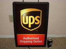 """UPS Authorized Shipping Outlet, Plastic Illuminated Wall / Window Sign 16"""" X 24"""""""
