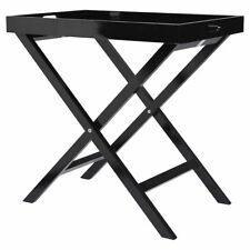 Tesco Butlers Tray Table Black With High Gloss Lacquer Finish Fully Assembled