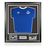 Framed Wayne Rooney Signed Everton Shirt 2016-17 Premium Framed Autograph