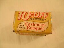 3 Bars Vintage Sealed Cashmere Bouquet Bar Soap White