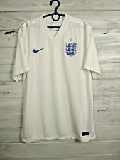 England Jersey 2014 2016 Home L Shirt Mens White Football Soccer Nike 588101-105